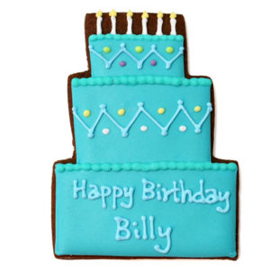 Blue Birthday Cake Biscuit Card