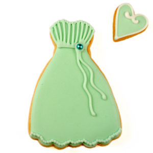 Green Dress Biscuit Card