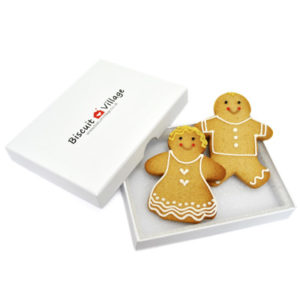 Cute Couple Gingerbread man Card