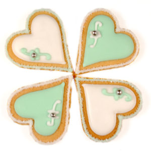 Four Hearts Biscuit Card