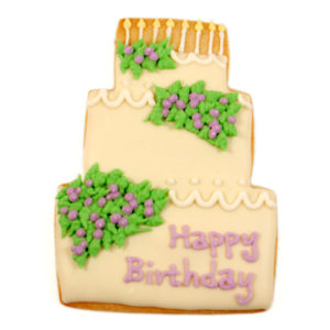 Happy Birthday Grand Cake Biscuit Card