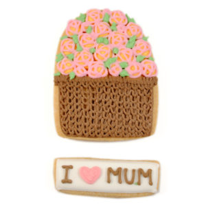 I love Mum – Flower Basket Biscuit