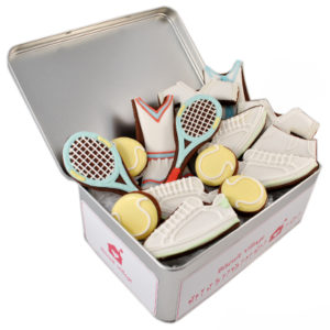 Mixed Doubles Tennis Biscuit Tin