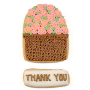 Personalised Flower Basket Biscuit