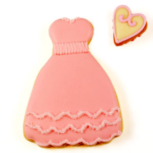 Pink Dress Biscuit Card