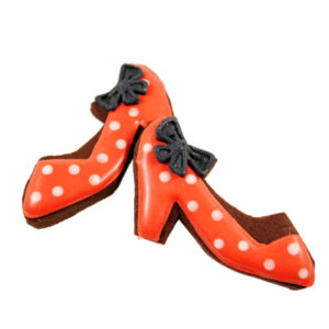 Red Polka-dot Shoes Biscuit Card