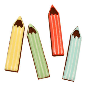 Set of 4 Pencils Biscuit Card