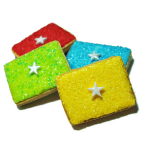 Set of 4 Star Gift Biscuits