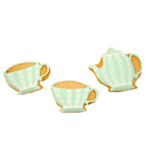 Tea Cup and Teapot Biscuit Card