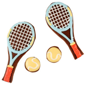 Tennis Set Edible Biscuit Card