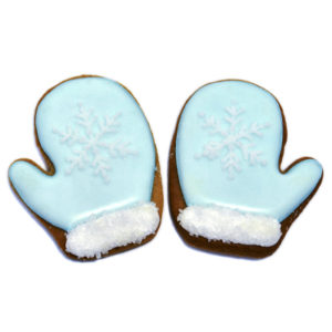 Winter Mittens Biscuit Card