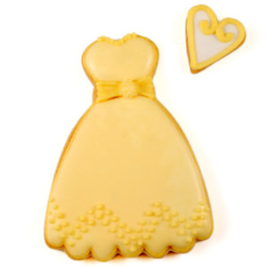 Yellow Dress Biscuit Card